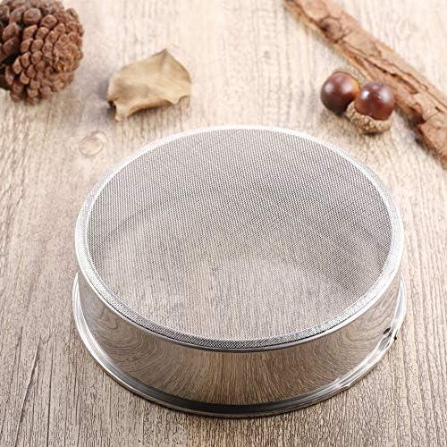 JIUY Mehlsieb aus Edelstahl Pulver Sieb Mesh Backen K/üchenwerkzeug Backen Zuckerstreuer Zuckerguss Silber mechanisch Kuchen