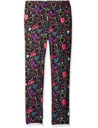 Dream Star Girls' Grafitti-Heart Printed Super Soft Capri...