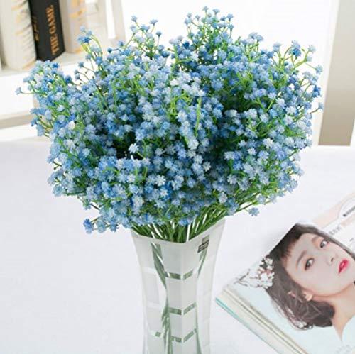 【K 세븐】☆Kseven☆ 카스미(안개) 안개꽃 조화 머리 장식 부케 웨딩 부케 식물 표본 임대 소재 플라워 세트 (10 개 세트 블루)