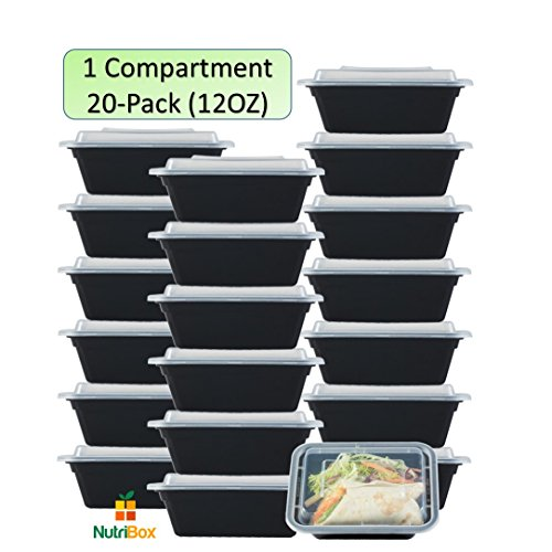 Compartment Type (NutriBox [20 value pack] single one compartment 12oz mini Meal Prep Food Storage Containers - BPA Free Reusable Lunch bento Box with Lids - Spill proof Proof, Microwave, Dishwasher and Freezer Safe)