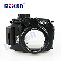 Meikon 40M Waterproof Underwater diving camera case for Canon M3