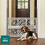 "North States Mypet Paws 40"" Portable Pet Gate: Expands & Locks In Place with No Tools. Pressure Mount. Fits 26""- 40"" Wide (23"" Tall, Light Gray) 12"