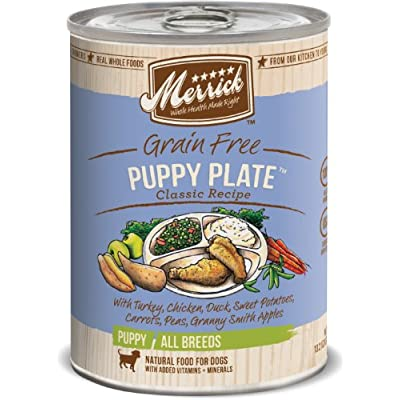 Merrick Classic Grain Free Canned Dog Food, 13,2 Oz, 12 Count Puppy Plate