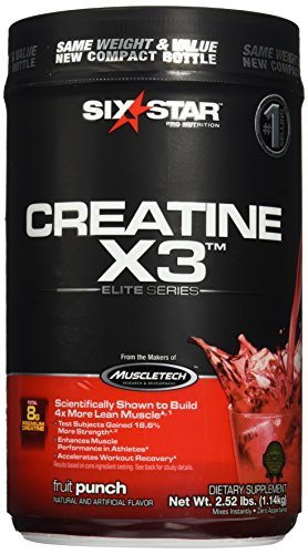 Six Star Creatine X3 Elite 1.1kg Fruit Punch by Six Star
