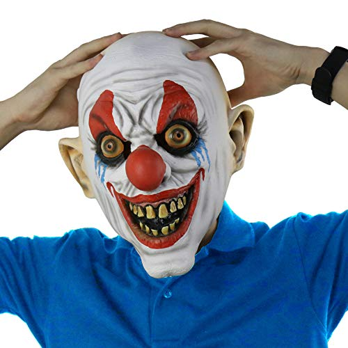 LarpGears Novelty Halloween Costume Party Funny Scary Clown Mask for Adults -