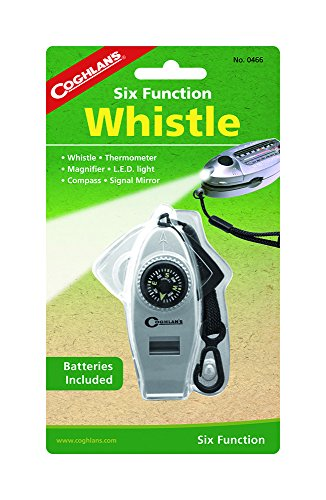 Coghlan's Six-Function Whistle with LED - Online Camera Mirror