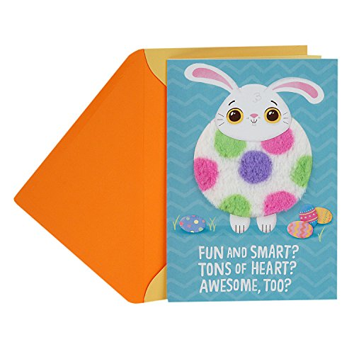 Happy Easter Gift - Hallmark Funny Easter Greeting Card for Kids (Cute Fuzzy Bunny)