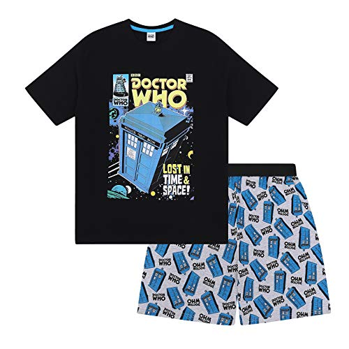 Doctor Who Tardis Official Gift Boys Kids Loungewear Short Pajamas 6-7 Years