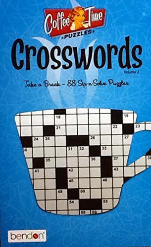 - Bendon Coffee Time Crossword Puzzles Vol. 2 ~ Puzzle Book Volume 2
