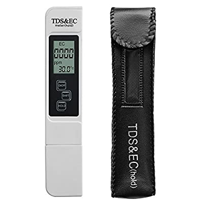 Modernway Digital Water Quality Tester,Professional TDS,EC and Temperature Meter,0-9990ppm,0-9990us/cm,+/-2% High Accuracy for Drinking Water,Hydroponics,Gardening,Aquariums,Pools and Spas(TDS-EC)