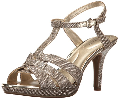 Bandolino Women's Sarahi Platform Dress Sandal, Gold Glamour, 6.5 M US