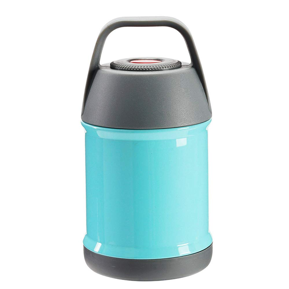 Insulated Thermos Food Container Double Wall Bento Box Hot or Cold Food Vacuum Flask Stainless Steel Thermal Lunch Box Food Jar for Soup 450ml (Blue)