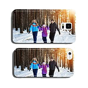 happy family in winter forest cell phone cover case iPhone6