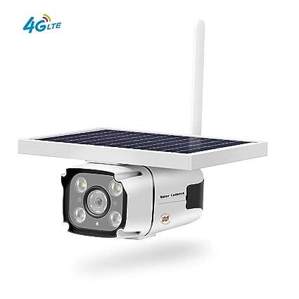 Amazon.com: QUARKJK Wireless Outdoor 4G Solar IP Camera PIR ...