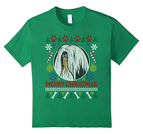 Kids Lhasa Apso Dog Breed Owners Ugly Christmas T-shirt