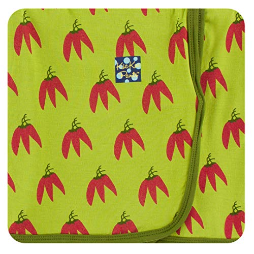 (Kickee Pants Print Swaddling Blanket (Meadow Chili Peppers - One Size))