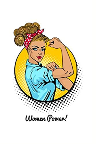 Women Power 120 Page Lined Notebook With Pop Art Classical