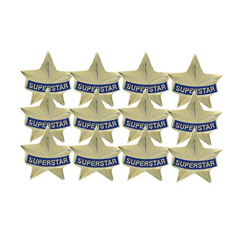 3/4 Inch Superstar Lapel Pin - Package of 12, Poly ()