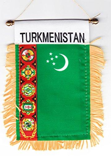 Turkmenistan - Window Hanging Flag