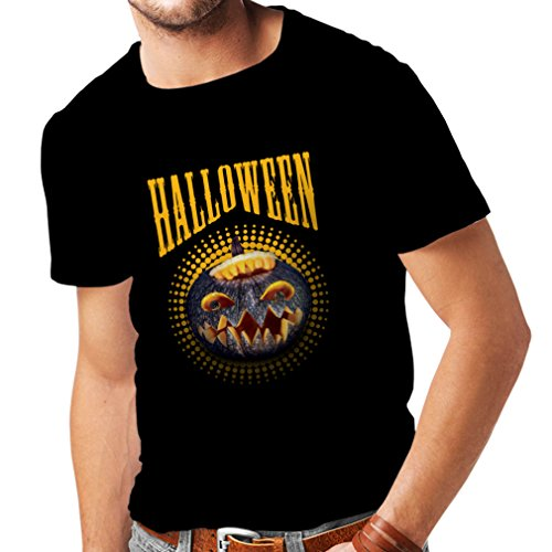 lepni.me T Shirts For Men Halloween Pumpkin - Clever Costume Ideas 2017 (Medium Black Multi (Scary Halloween Masks 2017 Uk)