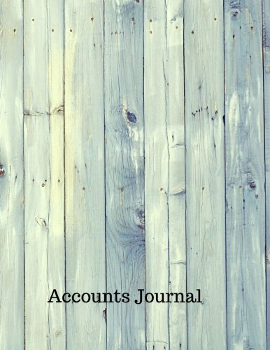 Accounts Journal: Journal Transactions Accounting : General . Notebook With Columns For Date, Description, Reference, Credit, And Debit. Paper Book Pad with  100 Record Pages 8.5 In By 11 In