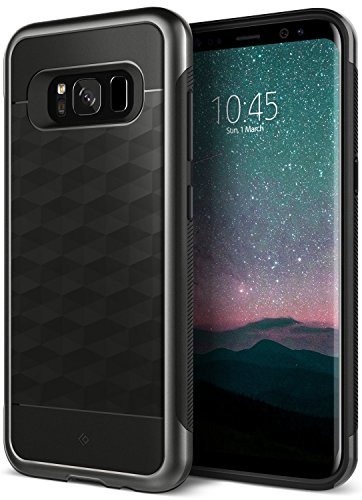 Galaxy S8 Plus Case, Caseology [Parallax Series] Slim Dual Layer Protective Textured Geometric Cover Corner Cushion Design for Samsung Galaxy S8 Plus (2017) - Black