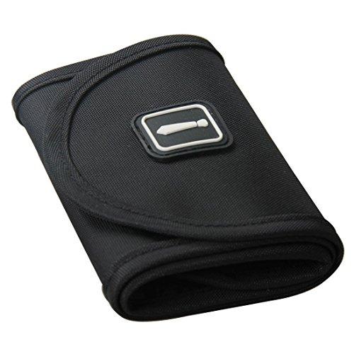 HANBUN Men Nylon Necktie Roll Travel Tie Case Tie Holder Storage Roll Tie Case Black US-HB007-S (Black)
