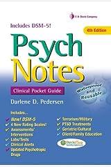 PsychNotes: Clinical Pocket Guide (Davis's Notes) by Darlene D. Pedersen (2013-08-01) Spiral-bound