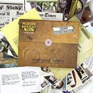 University Games Murder Mystery Party Case Files: Underwood Cellars Unsolved Mystery Detective Case File Game