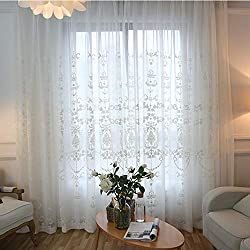 pureaqu Starry Sky Children Blue Curtains for Bedroom Silver Star Print Thermal Insulated Grommet Room Darkening Window Drapes for Kid's Room 1 Panel