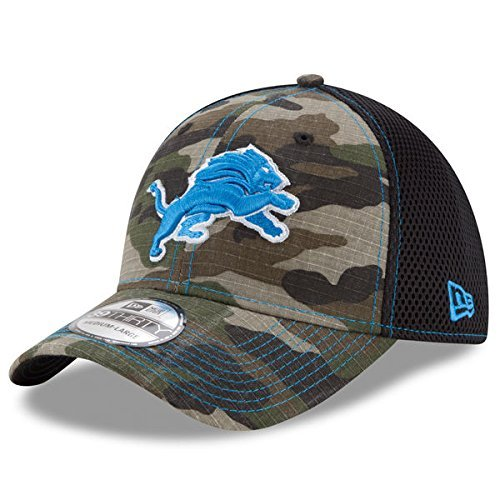 置換追い付く自信があるDetroit Lions New Era NFL 39thirty Woodland Camo