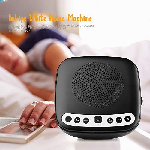 White Sleep Therapy with Radio, Relaxing Nature Sounds, and USB for Babies, Adults Travellers