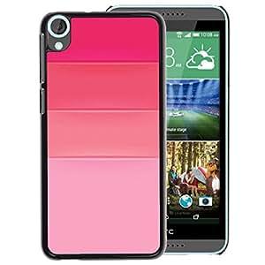 A-type Arte & diseño plástico duro Fundas Cover Cubre Hard Case Cover para HTC Desire 820 (Pink Fuchsia Tones Love Fashion Design)