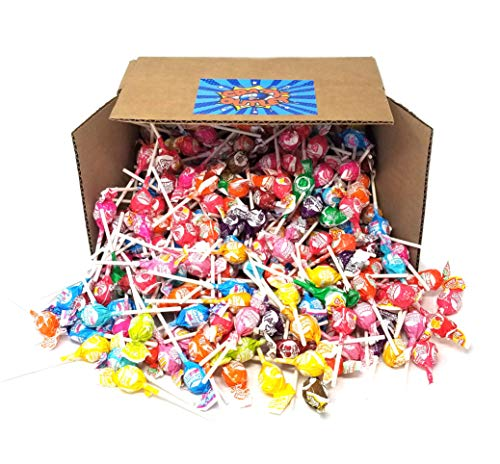 CrazyOutlet Pack - Charms Mini Lollipops Hard Candy, Assorted Fruit Flavors Party Pack, Colorful Mini Pops, Bulk, 2 lbs