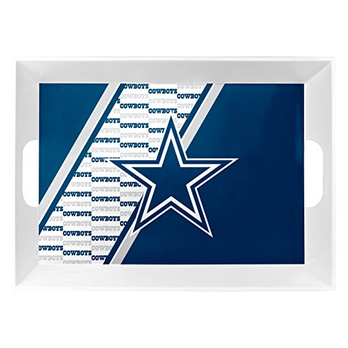 Lead Cowboy (Duck House 1 Pc, Dallas Cowboys Melamine Serving Tray 18x12x3 For Tailgate Party, Plastic BPA Free & Lead Free, Dishwasher Safe)
