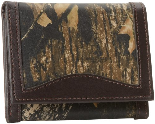 Weber's Leathers Men's Break-Up Leather Trifold, Mossy Oak Break-Up/Brown, One Size