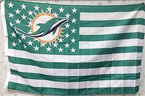 (Miami Dolphins Fans Nation stars and stripes Fly banners)