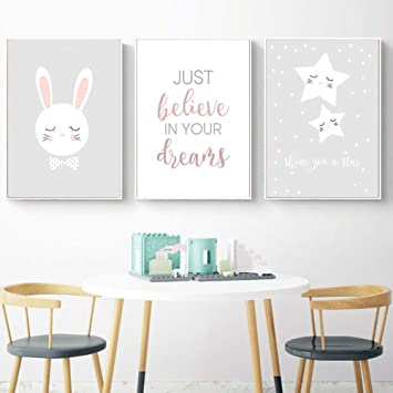 Amazon Com Super1798 Cartoon Rabbit Star Painting Poster Wall