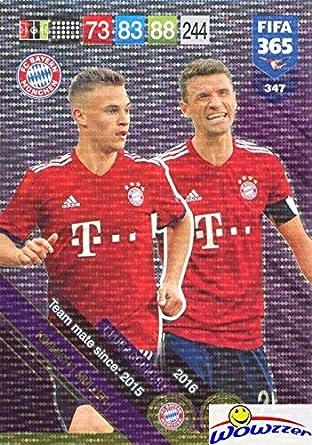 official photos f0b27 c2b7d Joshua Kimmich & Thomas Müller FC Bayern München 2019 Panini ...