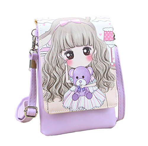 Women Ladies Girls StudentsShoulder Bag Crossbody Bags School Shopping Small Cell Phone Holder Case Wallet Purse Cash Key Coin Pouches Clutch Handbag from Fakeface