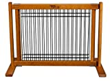 20'' Kensington - Small Free Standing Wood/Wire Pet Gate - Artisan Bronze