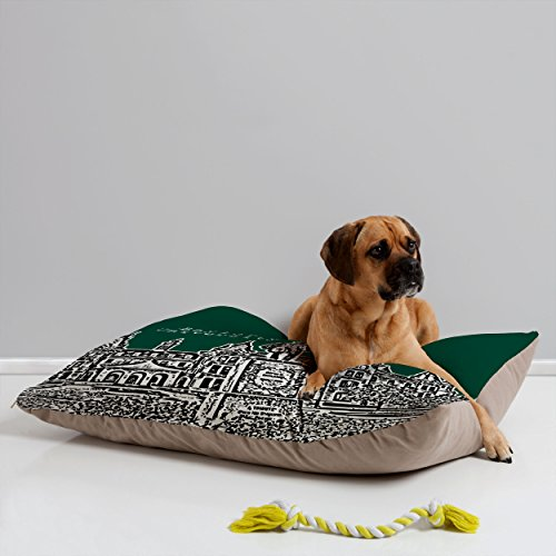 Deny Designs Bird Ave Baylor University Green Pet Bed, 40 by 30-Inch