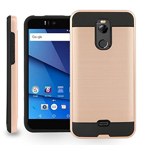 BLU R2 - 4G LTE Case,Biaotai[Shock Absorption] Drop Protection Hybrid Dual Layer Armor Protective Case Cover for BLU R2 LTE (Rose (4g Lte Accessories)