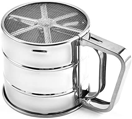BGHFXS Tamis /À Farine Semi-Automatique /À Main Pressant /À La Main LOutil de Cuisson pour Tamis /À Farine de Cuisine
