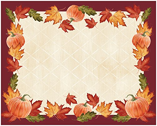 Creative Converting 860300 PLACEMATS, PUMPKINS/LEAVES, One size, Orange