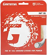 Gamma TNT2 Tennis Racket String Premium Synthetic Series- Enhances Playability, Durability and Control for All