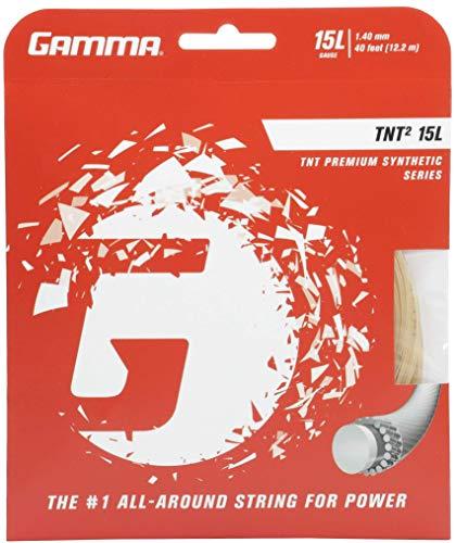 Gut 15l Natural - Gamma TNT2 15L Tennis String, White