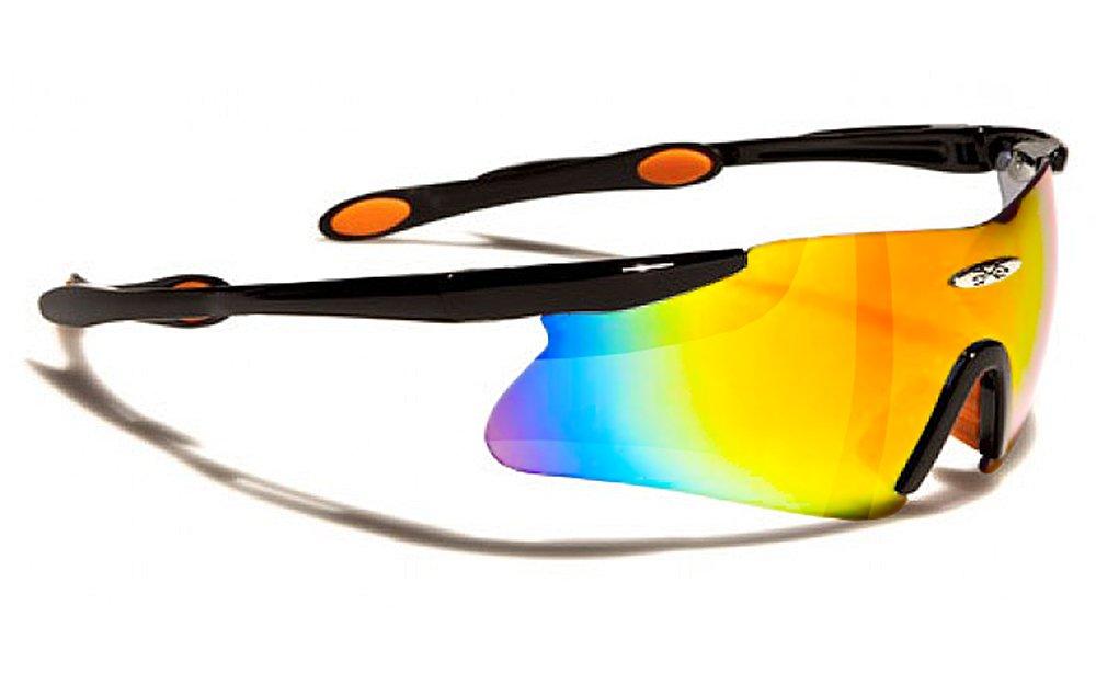 X-Loop Lunettes de Soleil - Sport - Cyclisme - Ski / Mod. 3555 Bleu / Taille Unique Adulte / Protection 100% UV400 eSvSMPqV
