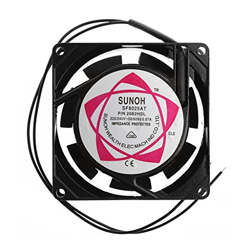 Youngy SF8025AT 2082HSL 8025 80mm Sleeve Bearing 220-240V AC 2-Wire Case Cooling Fan ()