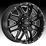 Ultra 203BM Hunter 20x9 5x127 -12mm Black/Milled Wheel Rim